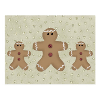 Gingerbread Man Recipe Card