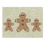 Gingerbread Man Recipe Card Post Cards