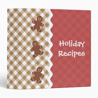 Gingerbread Man Red and Tan Holiday Binder