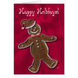 Gingerbread Man, Red Greeting Cards
