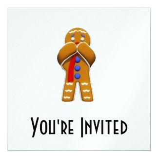 Gingerbread Man - Scared - Original Colors Card