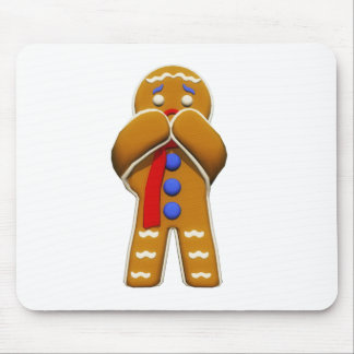 Gingerbread Man - Scared - Original Colors Mouse Pad