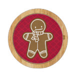 Gingerbread Man scarf cookie cheese board Round Cheese Board