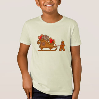GINGERBREAD MAN & SLEIGH by SHARON SHARPE T-Shirt