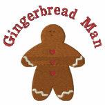 Gingerbread Man (smaller) Custom Embroidery Design Polo Shirt