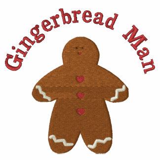 Gingerbread Man (smaller) Custom Embroidery Design Polo