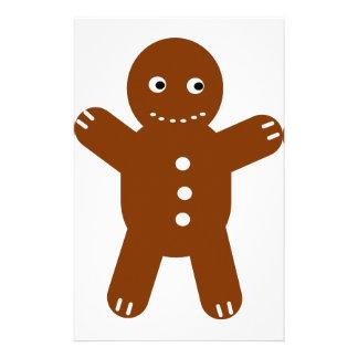 gingerbread man custom stationery