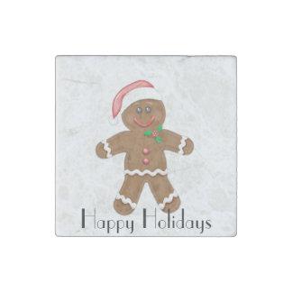 Gingerbread Man Stone Magnet