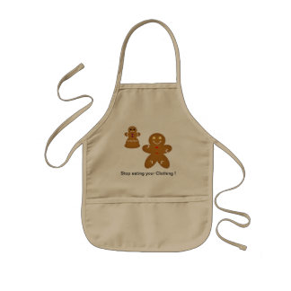 Gingerbread Man Stop eating your Clothing Apron