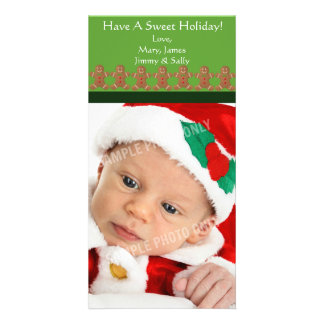 Gingerbread Man Sweet Holiday Photo Cards