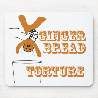 Gingerbread Man Torture Bizarre Humor Mouse Pad