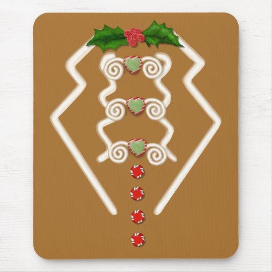 Gingerbread Man Tuxedo Mouse Pad