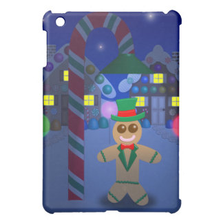 Gingerbread Man under Candy Lamp iPad Mini Cases