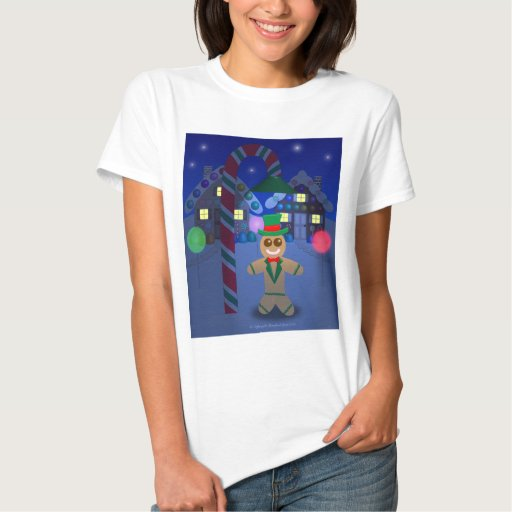 Gingerbread Man under Candy Lamp Tshirts