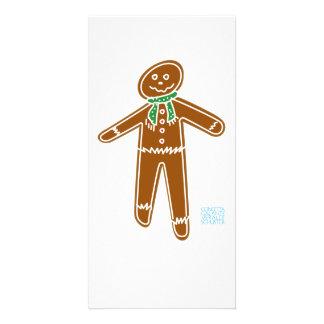 Gingerbread Man w Scarf Card