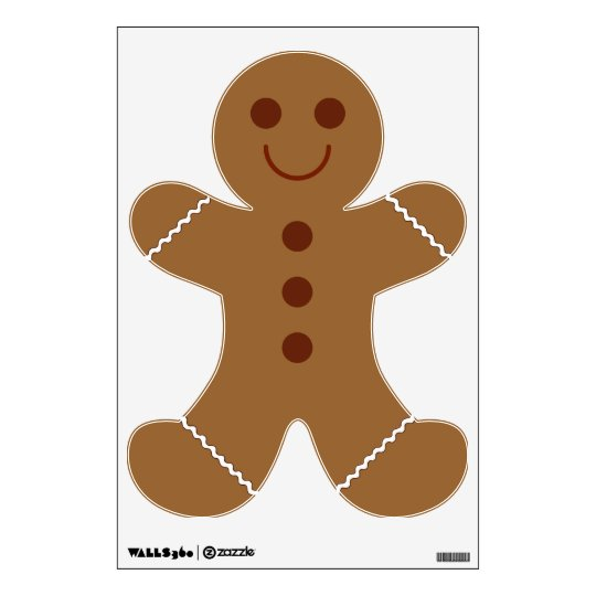 Gingerbread Man Wall Decal