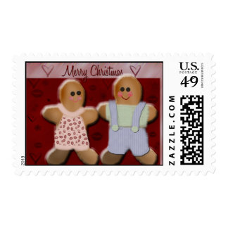 Gingerbread Man & Wife Postage