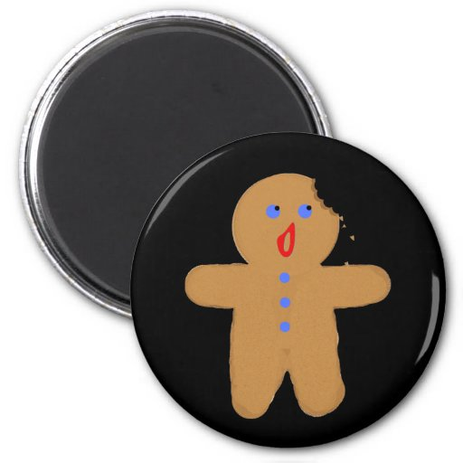 Gingerbread Man with Bite Halloween Crossover Refrigerator Magnet