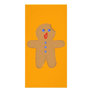 Gingerbread Man with Bite Halloween Crossover Photo Card