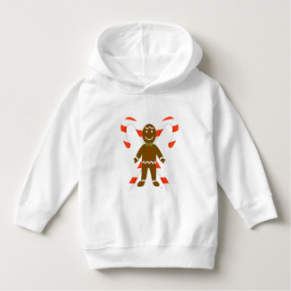 Gingerbread Man with Candy Cane Toddler Hoodie