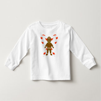 Gingerbread Man with Candy Cane Toddler T-Shirt