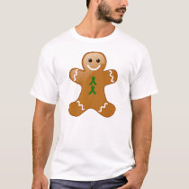 Gingerbread Man with Green Ribbons T-Shirt