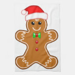 Gingerbread man with hat towels