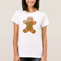 Gingerbread Man with Jade Ribbons T-Shirt