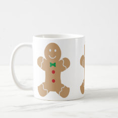 Gingerbread Man with Name Coffee Mug at Zazzle