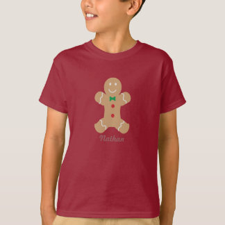 Gingerbread Man with Name T-Shirt