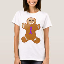 Gingerbread Man with Violet Ribbons T-Shirt