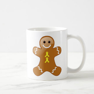 Gingerbread Man with Yellow Ribbons Coffee Mug
