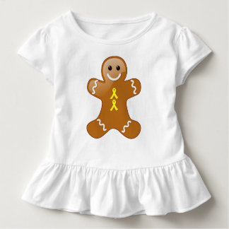 Gingerbread Man with Yellow Ribbons Toddler T-shirt