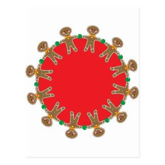 Gingerbread Man Wreath Postcard