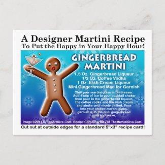 Gingerbread Martini Recipe Postcard