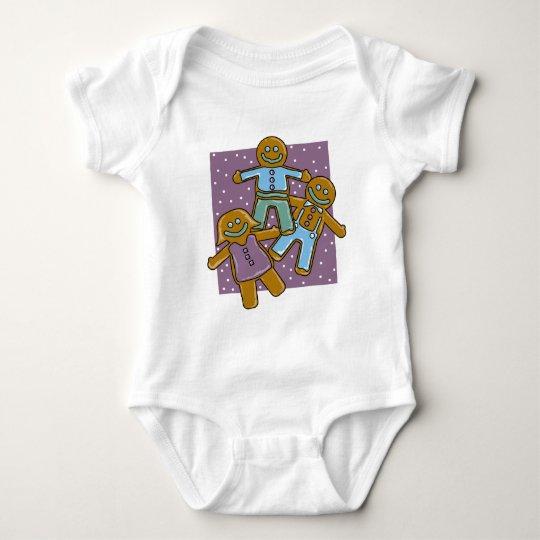 Gingerbread Men Baby Bodysuit