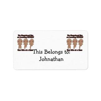 gingerbread men becoming extinct address label