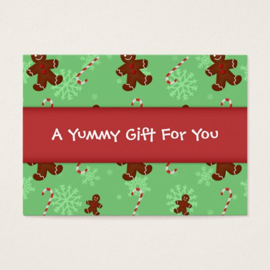 Gingerbread Men & Candy Canes Gift Tag