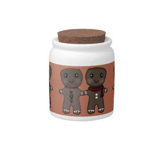Gingerbread Men Candy Jars