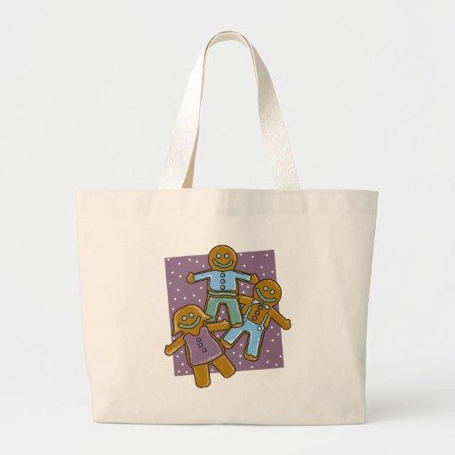 Gingerbread Men Canvas Bags