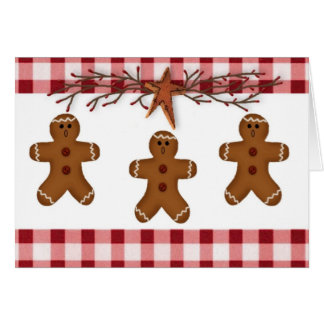 Gingerbread Men Christmas Card