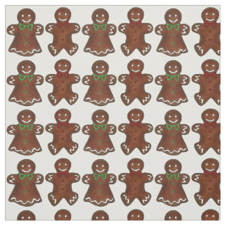 Gingerbread Men Christmas Cookie Fabric