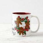 Gingerbread  Men Christmas Gifts Two-Tone Coffee Mug