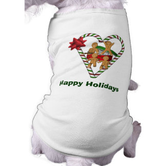Gingerbread Men Christmas Holiday Dog T-Shirt