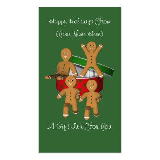 Gingerbread Men Christmas Holiday Gift Card Tag