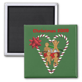Gingerbread Men Christmas Holiday Magnet