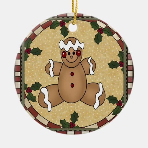 Gingerbread Men Cookie Photo Christmas Ornament