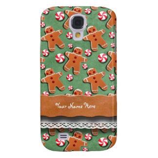 Gingerbread Men Cookies Candies Green Galaxy S4 Case