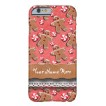 Gingerbread Men Cookies Candies Red Barely There iPhone 6 Case