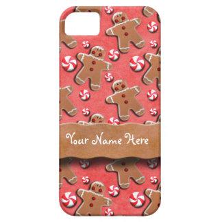 Gingerbread Men Cookies Candies Red iPhone 5 Cases